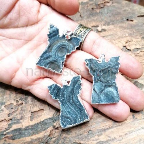 Ciondolo Angelo di Rosetta di Calcedonio (Concinas)