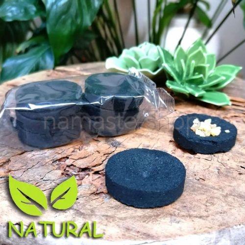 Carboncino Vegetale Naturale NON TOSSICO per Incenso - Blister da 6 pezzi