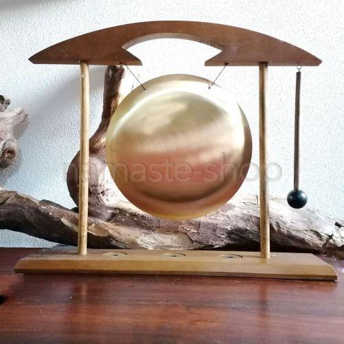 Grande Gong da Tavolo con Moneta i-Ching - 50x42cm