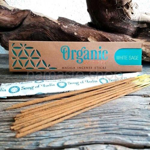 Incenso Biologico SALVIA BIANCA White Sage - Organic Goodness Masala