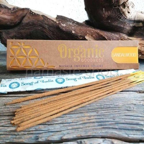 Incenso 96% Biologico SANDALO Sandalwood - Organic Goodness Masala