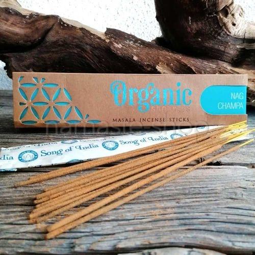 Incenso Biologico 96% NAG CHAMPA - Organic Goodness Masala