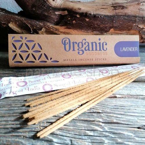 Incenso 96% Biologico LAVANDA Lavender - Organic Goodness Masala