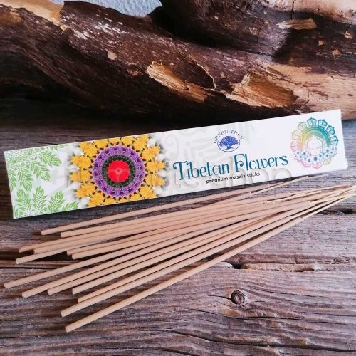 Incenso Premium Masala TIBETAN FLOWERS - Green Tree