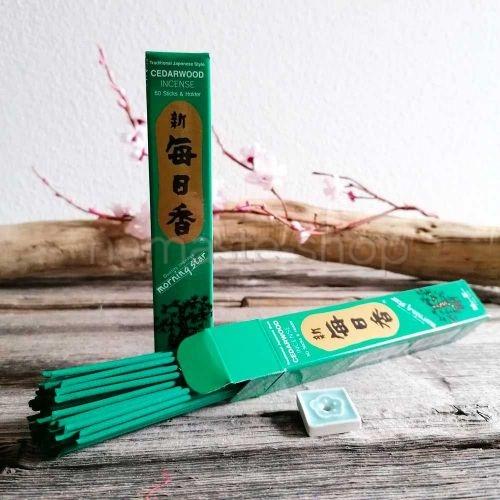 Incenso Giapponese LEGNO DI CEDRO - Morning Star Cedarwood - Alta Qualità