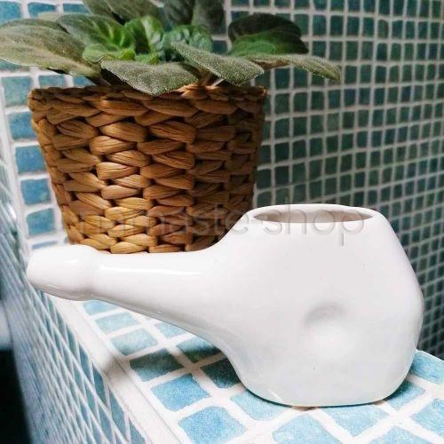 Neti Lota Piccolo - Lavaggio Nasale Disintossicante - Ceramica Bianca