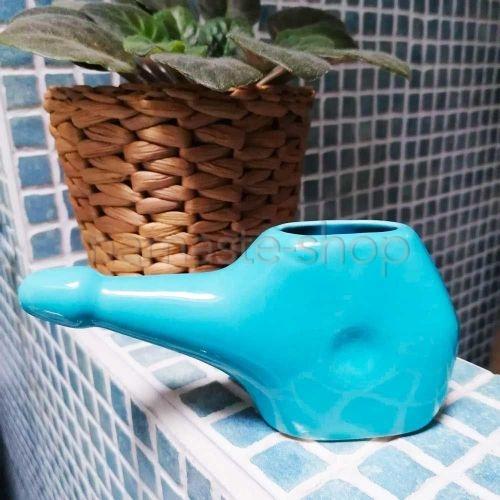 Neti Lota Piccolo - Lavaggio Nasale Disintossicante - Ceramica Azzurra
