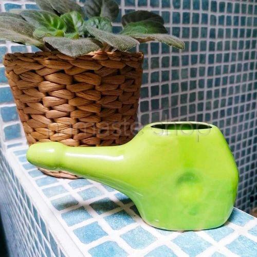 Neti Lota Piccolo - Lavaggio Nasale Disintossicante - Ceramica Verde