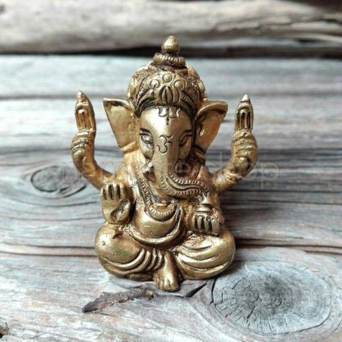Mini Ganesh in Ottone 5cm