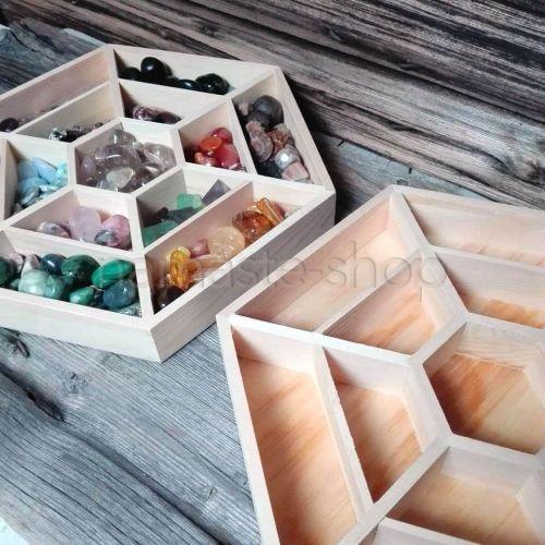 Espositore Mandala per Cristalli e Pietre in legno naturale