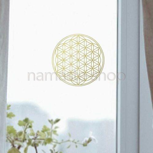 Adesivo FIORE DELLA VITA per vetro o ogni superficie liscia - 10,5cm