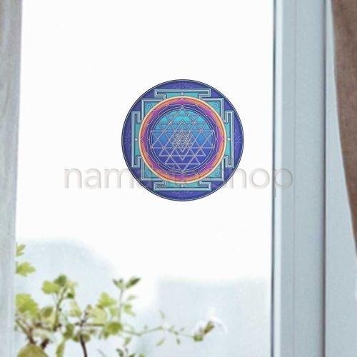 Adesivo SRI YANTRA per vetro o ogni superficie liscia - 10,5cm