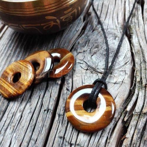 Donuts di OCCHIO DI TIGRE - Ciondolo portafortuna