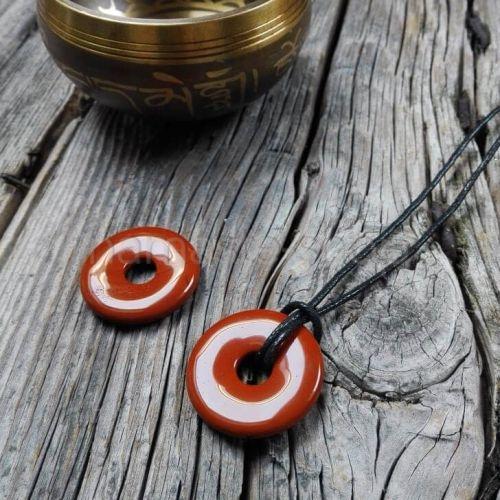 Donuts di DIASPRO ROSSO - Ciondolo portafortuna