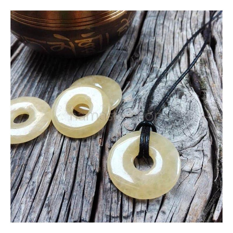 Donuts di CALCITE GIALLA - Ciondolo portafortuna
