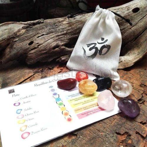 Sacchetto 7 CHAKRA - Pietre e istruzioni per il riequilibrio energetico